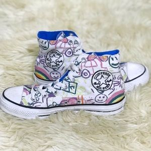 All Star High Top Converse Child's Drawing Design